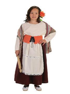 disfraz de panadera medieval para niña