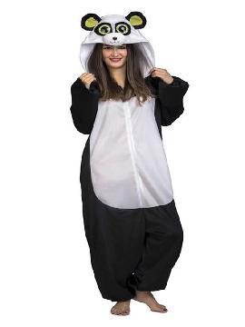 disfraz de panda con ojos grandes para adultos