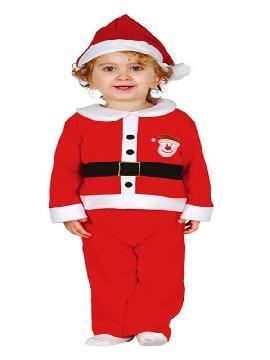 disfraz de papa noel clasico para bebe