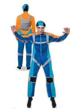 Este disfraz de paracaidista para hombre es muy original con su paracaidas en la espalda para tirarte a una altura cosiderable y no hacerte daño. Si tienes una fiesta de disfraces graciosos y divertidos este es tu disfraz adulto, donde tambien está la pareja para ser de los más originales en carnaval, halloween, despedida de solteros o fiesta temática.