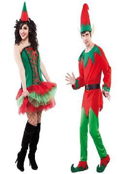disfraz de pareja de elfos hombre y mujer