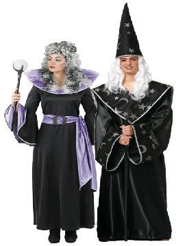 disfraz de pareja de magos hombre y mujer. Este disfraz de halloween es ideal para tus fiestas temáticas de disfraces magos y miedo para parejas de hombre y mujer.