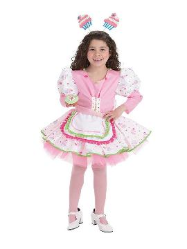 disfraz de pastelera cupcake para niña