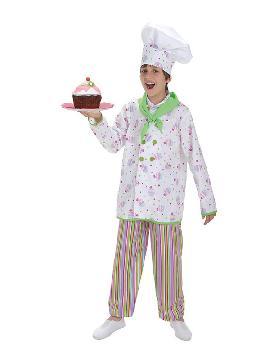 disfraz de pastelero cupcake para niño