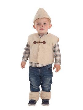 disfraz de pastor con chaleco para bebe
