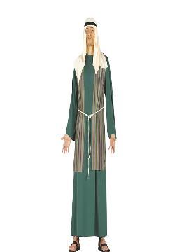 disfraz de pastor hebreo verde hombre adulto