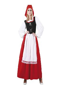 Disfraz de pastora aldeana mujer adulto. Este traje es ideal para representar en tu función de navidad los oficios de Belén. Este disfraz es ideal para tus fiestas temáticas de disfraces de navidad y cabalgatas infantiles