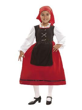 disfraz de pastora aldeana para niña