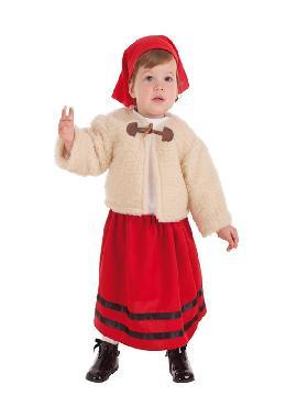 disfraz de pastora con abrigo para bebe