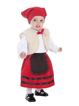 disfraz de pastora con chaleco para bebe