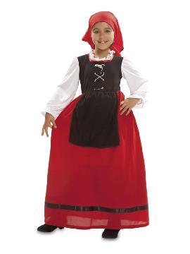 disfraz de pastora falda larga niña