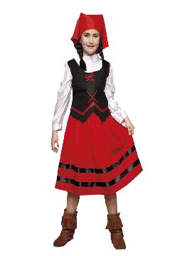 disfraz de pastora roja niña