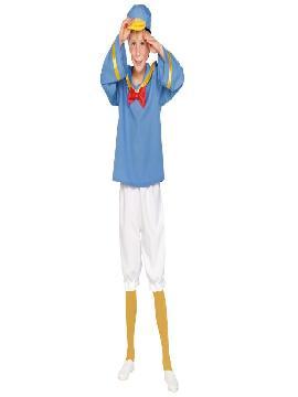 disfraz de pato donald barato para niño. Un animalito ideal para las Fiestas Temáticas o el Carnaval, es muy cómodo para divertirse con libertad por la fiesta.Este disfraz es ideal para tus fiestas temáticas de disfraces de animales para niño infantiles.