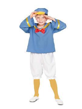 disfraz de pato marinero para niño