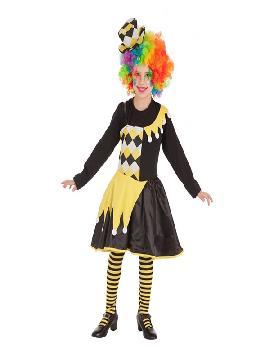 disfraz de payasa alegria para niña