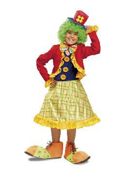 disfraz de payasa colorines para niña