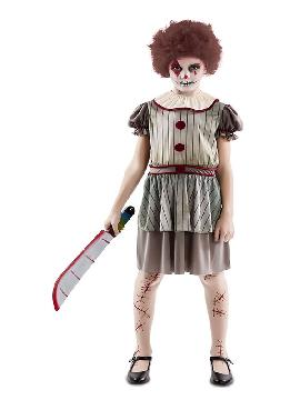 disfraz de payasa diabolica para niña
