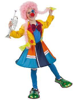 disfraz de payasa divertida niña infantil. Este comodísimo y colorido traje es perfecto para carnavales.Este disfraz es ideal para tus fiestas temáticas de disfraces de payasos del circo,bufones y arlequines para niñas.