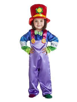 disfraz de payasa flor para niña