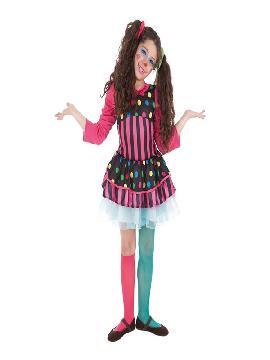disfraz de payasita a rayas para niña