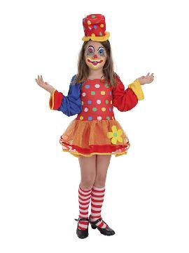 disfraz de payasita pepona para niña