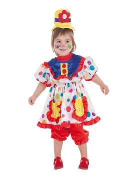 disfraz de payasita tina para bebe