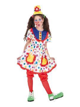 disfraz de payasita tina para niña