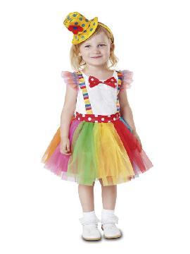 disfraz de payasita tutu niña
