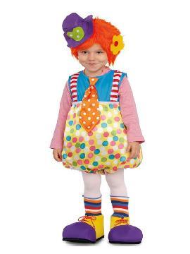 disfraz de payasito con tirantes para bebe