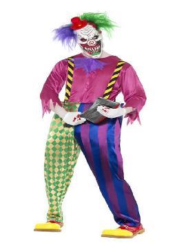 disfraz de payaso asesino colorido hombre