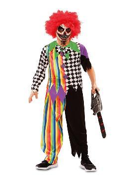 disfraz de payaso colores siniestro niño