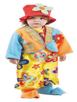Disfraz de payaso colorido para bebé. El más pequeño de la casa arrancará sonrisas dulces. Deja que se sienta como Miliki en el circo. Este disfraz es ideal para tus fiestas temáticas de payaso para infantil. fabricacion nacional