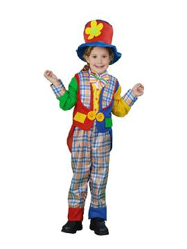 disfraz de payaso con abrigo niño