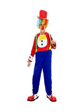 disfraz de payaso con aro infantil. Este comodísimo traje es perfecto.para carnavales, espectáculos, cumpleaños y tambien para las fiesta de los colegios como fin de curso o cualquier otras actividades.Este disfraz es ideal para tus fiestas temáticas de disfraces de payasos del circo,bufones y arlequines para niños infantiles.