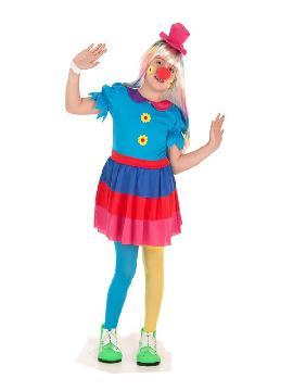 disfraz de payaso crispina para niña