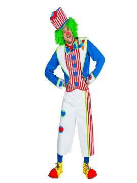 disfraz de payaso divertido deluxe hombre