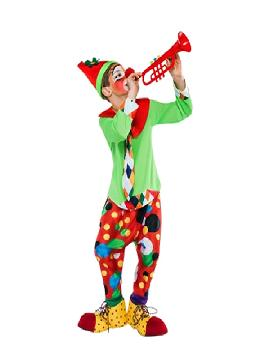 disfraz de payaso flautico niño infantil. Este comodísimo traje es perfecto.para carnavales, espectáculos, cumpleaños y tambien para las fiesta de los colegios como fin de curso o cualquier otras actividades.Este disfraz es ideal para tus fiestas temáticas de disfraces de payasos del circo,bufones y arlequines para niños infantiles.