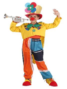 Disfraz de payaso flor infantil. Este comodísimo traje es perfecto para carnavales, espectáculos, cumpleaños. Este disfraz es ideal para tus fiestas temáticas de disfraces de payasos del circo,bufones y arlequines infantiles.