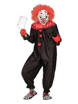 disfraz de payaso negro y rojo asesino hombre