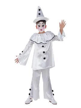 disfraz de payaso pierrot infantil
