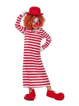 disfraz de payaso rayas camison largo infantil