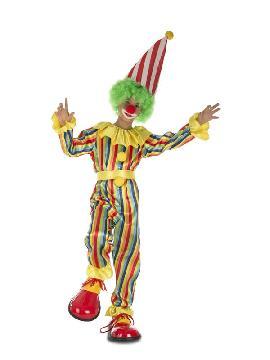 disfraz de payaso rayas para infantil