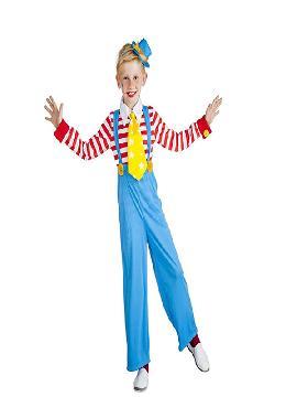 disfraz de payaso rayas para niño infantil. Este comodísimo y colorido traje es perfecto para carnavales y fiestas escolares. Este disfraz es ideal para familias o tus fiestas temáticas de disfraces de payasos del circo,bufones y arlequines para niños.