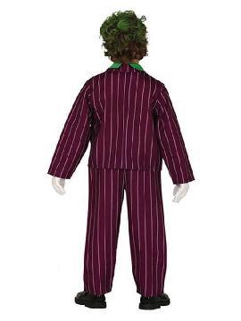 disfraz de joker risueño para niño