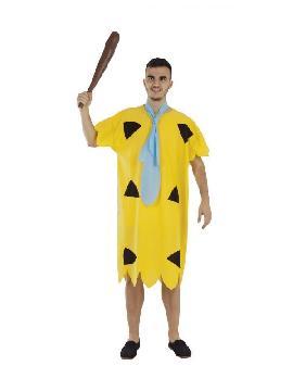 disfraz de pedro picapiedra amarillo hombre
