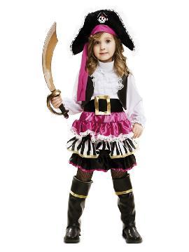 disfraz de pequeña pirata para niña