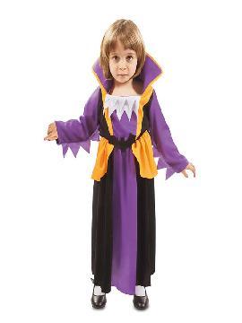 disfraz de pequeña vampira lila niña