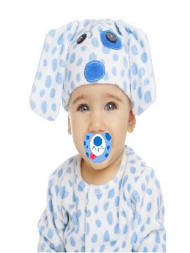 disfraz de perrito blanco manchas azules bebe