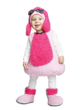 disfraz de perrito caniche rosa para niña
