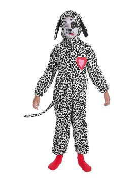 disfraz de perrito dalmata corazon para niño